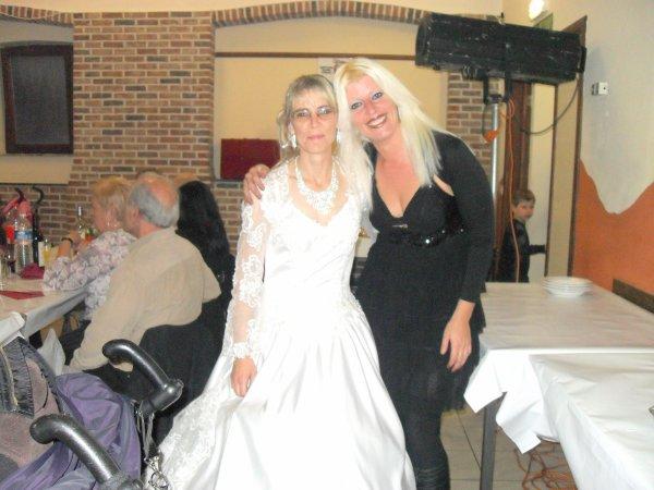 photo de moi et ma cousine a son mariage