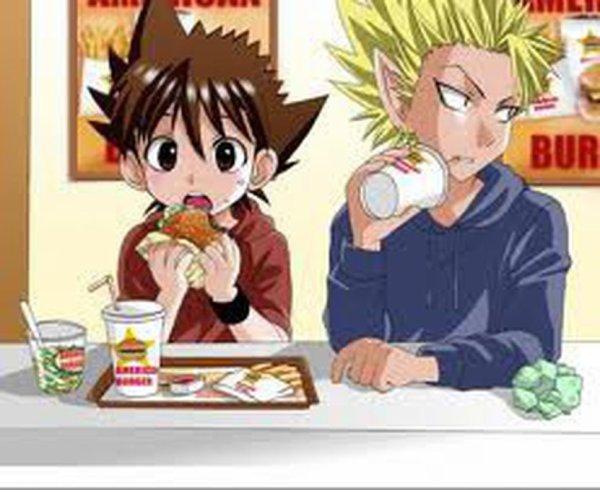 Hiruma et Sena au fast-food