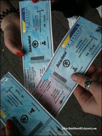 6 603 » Ticket de concert du Brésil.