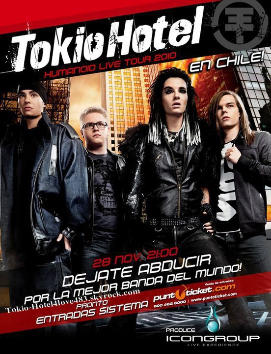 6 606  »  Affiche Officiel du concert au Chili