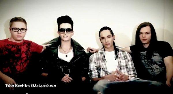 6 618  » Nouveau message de Tokio Hotel.