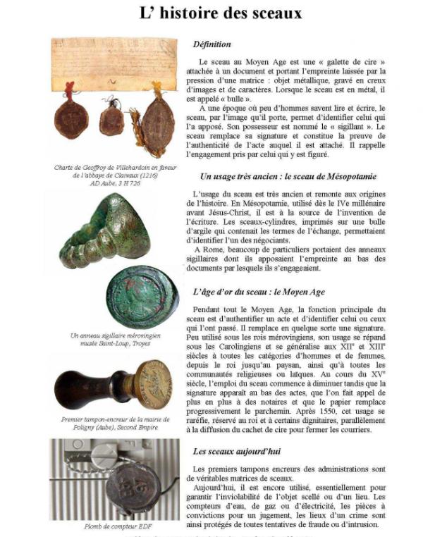 Histoire de sceaux...