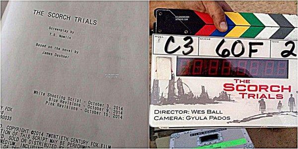 """27/10/2014 : Le tournage de """"The Scorch Trials"""" a bel et bien commencé."""