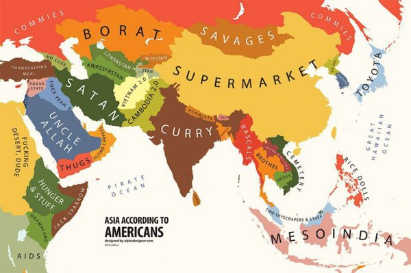 Asia according to Americans........