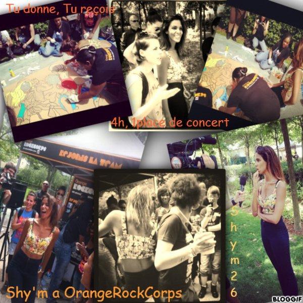 Shy'm a un message pour les volontaires Orange RockCorps