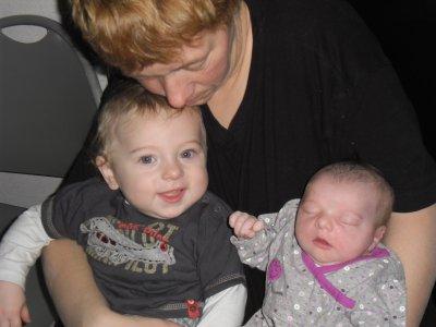 ma femme , mon fils tayron , ma fille cheyenne