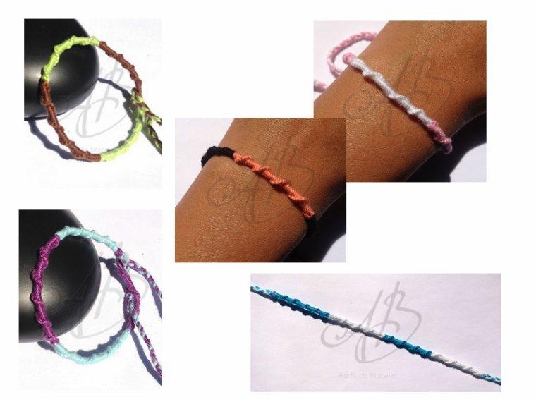 """Bracelet Atébas """"Modèle 1001 noeuds"""""""