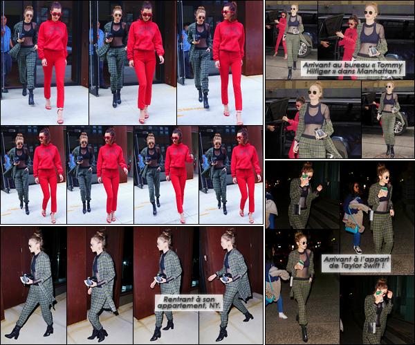 - '-04/05/17-' ◊Gigi Hadid a été aperçue sortant de son appartement en compagnie de Bella dans Manhattan. C'est ainsi un marathon de news que nous offre Jelena qui dans la même journée s'est rendue à plusieurs points différents. C'est un top ! -