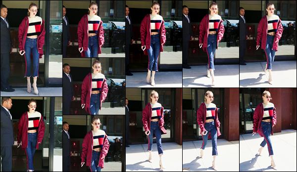 - '-12/05/17-' ◊La belle Gigi Hadid a été photographiée en sortant tout juste de son appartement, Manhattan. C'est dans un beau sweat « Tommy Hilfiger » que nous retrouvons notre mannequin à la sortie de son appartement, c'est un grand top ! -