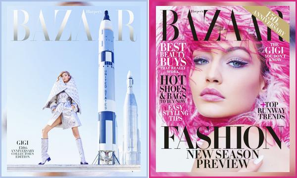 ▬Gigi Hadidpour l'édition juin/juillet du magazine :« Harper's Bazaar»,dont elle fait la couverture!