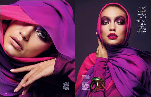 ▬Découvrez le shooting deGigi Hadidpour le célèbre magazine« VOGUE Arabia» édition mars 2017!