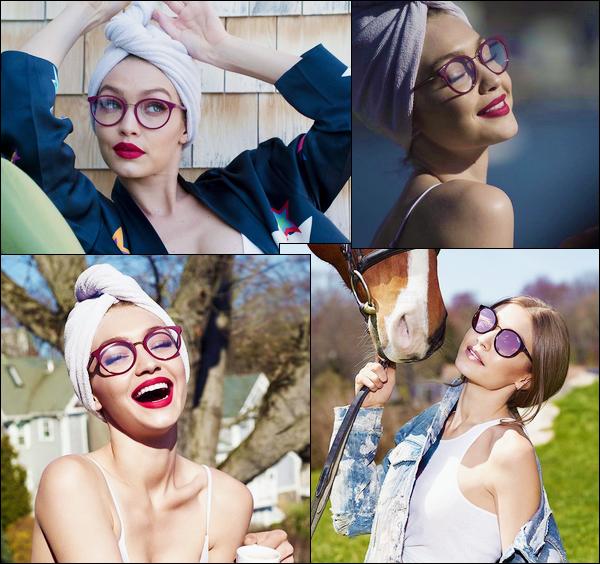 ▬DécouvrezGigi Hpour la marque de lunettes :« Vogue Eyewear»dont elle devient la nouvelle égérie !