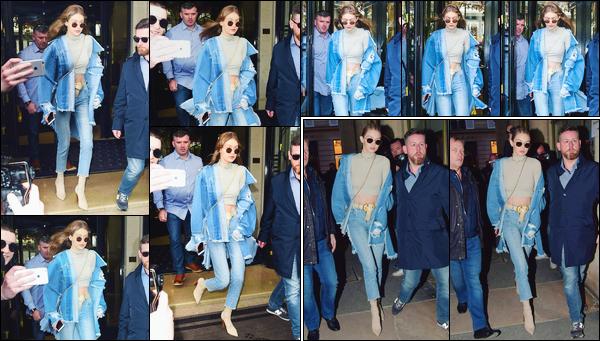 - '-02/03/17-' ◊Gigi Hadid a été aperçue alors qu'elle sortait de l'hôtel « George V » dans notre capitale : Paris. C'est un peu plus tard dans les rues de notre belle capitale que nous retrouvons Gigi cette fois-ci les cheveux attachés. C'est un petit top. -