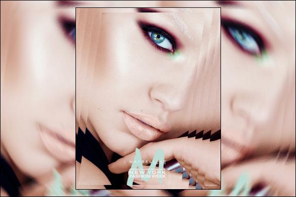 ▬Découvrez le dernier photoshoot deGigi Hadidpour célèbre marque de maquillage :«Maybelline»!