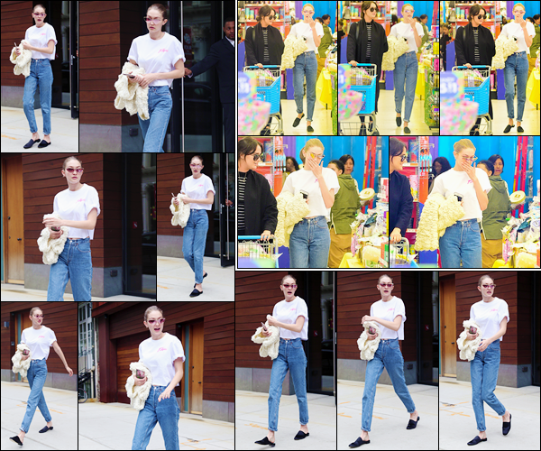 - '-21/04/17-' ◊Jelena Hadid a été vue alors qu'elle sortait tout juste de son appartement dans New York City. Un peu plus tard dans la journée, Gigi Hadid a été photographiée alors qu'elle se trouvait dans un magasin ! Je donne un petit flop ! -