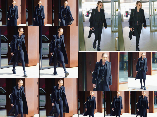- 03/04/17 -Gigi Hadid a été aperçue alors qu'elle quittait son appartement pour se rendre à l'aéroport, NY. C'est ensuite à l'aéroport « JFK » situé à New-York que nous retrouvons Gigi, prête à prendre son envole pour retrouver notre capitale ! -