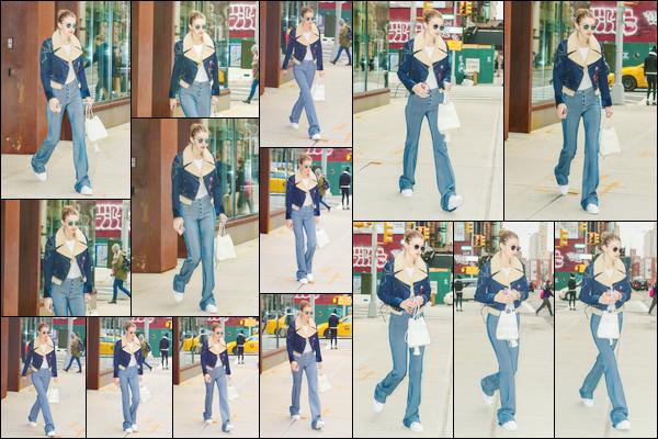 - '-23/01/17-' ◊Jelena Hadid a été photographiée alors qu'elle venait de sortir d'un studio situé à Manhattan. C'est ainsi dans Manhattan que nous retrouvons notre mannequin à qui j'accorde pour le coup un flop. Je ne suis pas fan de son look. -