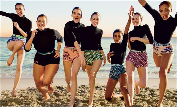 ▬DécouvrezGigi Hadidaccompagnée d'autres mannequins pour le très célèbre magazine « Vogue US »!