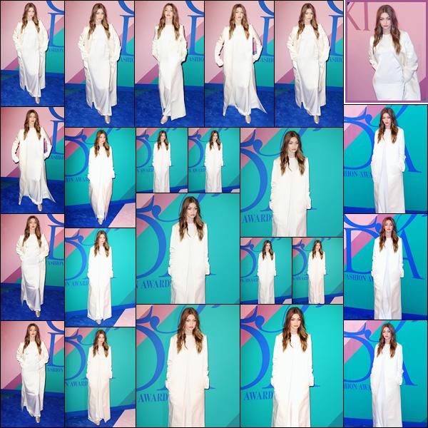 - '-05/06/17-' ◊Gigi Hadid assistait au « Council of Fashion Designers of America Awards 2017 », à New-York. J'accorde un top pour le makeup ainsi que la coiffure de Gigi bien que cela soit assez simple. En revanche, pour sa tenue, c'est un flop ! -