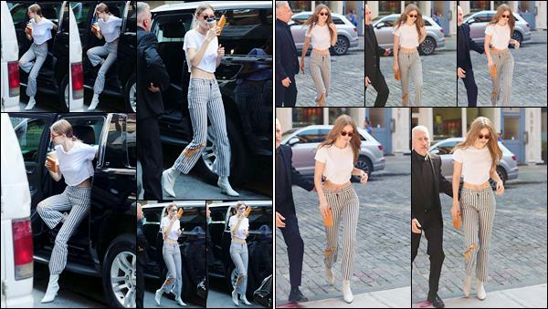 - '-12/06/17-' ◊Notre belle Gigi H. a été photographiée alors qu'elle était dans les célèbres rues de New York. C'est tout d'abord dans les rues de New-York puis plus tard, rentrant à son appartement que Jelena a été photographiée. Un petit flop! -