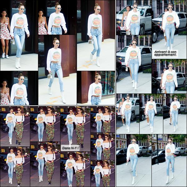 - '-14/06/17-' ◊Gigi Hadid a été aperçue alors qu'elle sortait tout juste de son appartementn dans Manhattan. Dans la même journée, Gigi a été vue alors qu'elle arrivait à son appartement, puis le soir, dans les rues de New-York avec sa soeur Bella. -