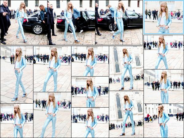 - '-24/02/17-' ◊Gigi Hadid a été photographiée alors qu'elle était sur le tournage d'un enregistrement, Milan. C'est probablement pour un photoshoot ou pour la réalisation d'une vidéo commerciale que nous retrouvons Jelena dans Milan, un top! -
