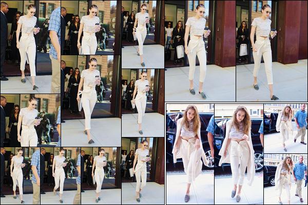 - '-22/06/17-' ◊Gigi Hadid a été photographiée alors qu'elle venait de quitter son appartement à Manhattan. Un peu plus tard, notre ravissante Jelena a été aperçue alors qu'elle rentrait à son appartement. Je donne un petit top pour sa tenue ! -