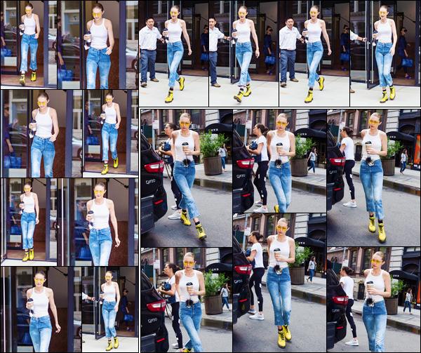 - '-26/06/17-' ◊Gigi Hadid a été photographiée alors qu'elle venait de quitter son appartement à Manhattan. Par la suite, un peu plus tard, Gigi a été photographiée alors qu'elle arrivait à un studio pour réaliser un photoshoot dans New York. -