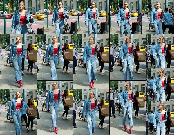 - '-29/06/17-' ◊Gigi Hadid a été vue alors qu'elle se était entrain de se promener dans les rues de Manhattan. C'est dans une belle tenue que nous retrouvons Jelena qui plus tôt quittait, d'ailleurs, son appartement également situé à Manhattan ! -