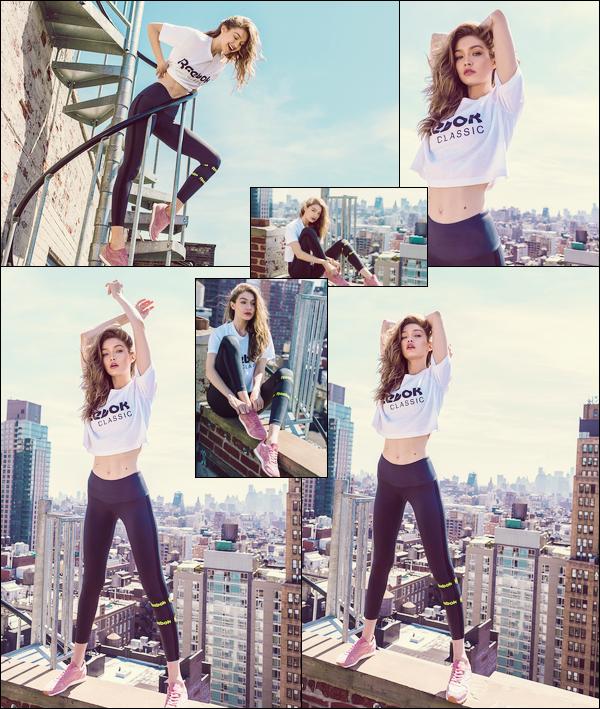 ▬Découvrez de nouvelles photos deGigi Hadidpour la marque dont elle est égérie :« Reebook», beautop!