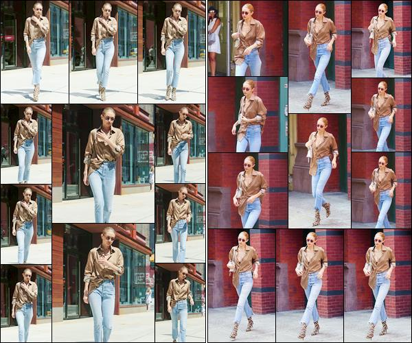 """- """"─-17/07/17-•"""": Gigi Hadid a été photographiée alors qu'elle venait de sortir de son appartement à Manhattan. Plus tard, notre belle mannequin a été aperçue alors qu'elle sortait du magasin « Fish Eddy » après une séance à shopping, N-Y. Un bof ! -"""