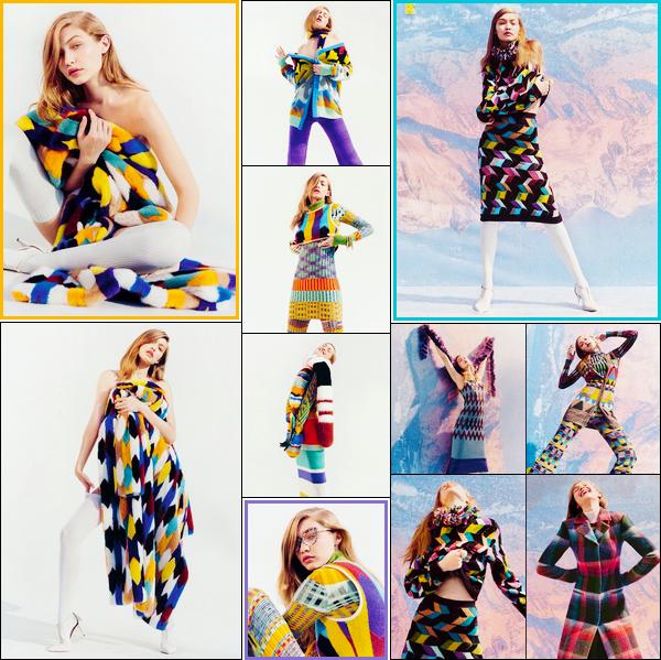 •Découvrez les clichés de missGigi Hadidpour la marque de vêtements« Missoni »F/W2017 !