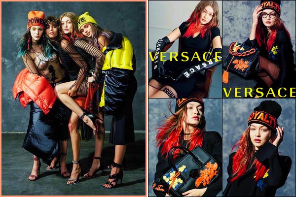 •Découvrez de nouvelles photos deGigi HadidparBruce Weberpour« Versace FW 2017 »!