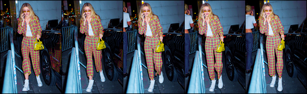 """- """"─-08/09/17-•"""": Gigi Hadid a photographiée alors qu'elle venait de quitter son appartement, dans Manhattan. Par la suite, Gigi a été aperçue arrivant puis quittant le show « Brandon Maxwell » où elle a par ailleurs défilé pour la Fashion Week. Bof. -"""