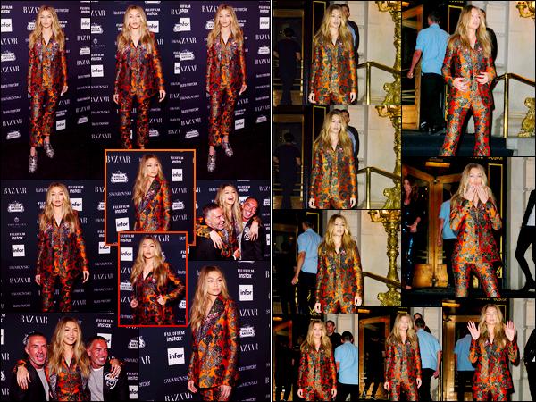 """- """"─-08/09/17-•"""": Notre ravissante Gigi Hadid était présente à la soirée :« Harper's Bazaar Icons », à New-York. Un peu plus tôt, notre mannequin a été aperçue alors qu'elle arrivait à cette soirée. Pour cette tenue que j'affectionne beaucoup, un top! -"""