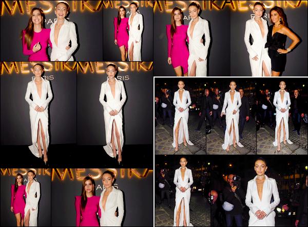 """- """"─-27/09/17-•"""": Gigi Hadid était à la soirée de lancement de sa collaboration avec la marque« Messika » Paris. Elle a par ailleurs été vue un peu plus tard arrivant à cet événement. Je lui accorde pour sa robe un beau top, elle était vraiment superbe. -"""