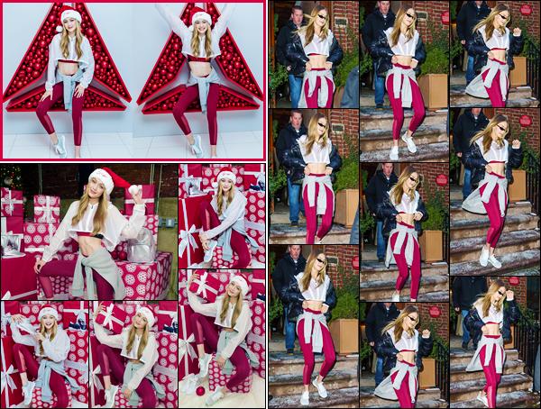 """- """"─-14/12/17-•"""": Gigi Hadid assistait à un événement organisé par la marque« Reebok's »situé dans New-York. Par la suite, notre charmante blondinette à été aperçue alors qu'elle venait tout juste de quitter cet événement. Toujours la même tenue. -"""