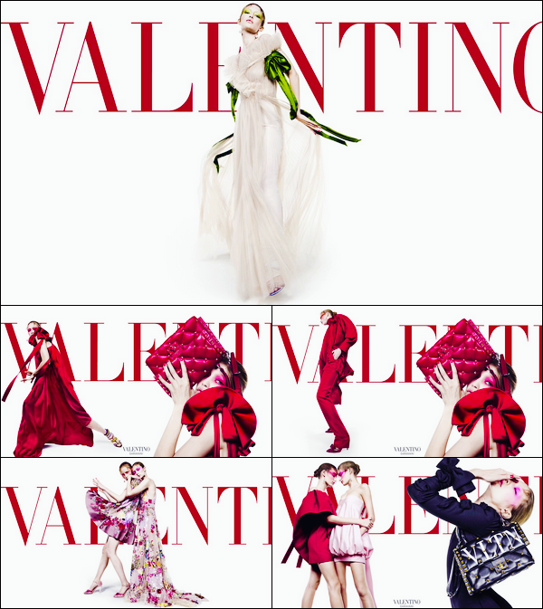 •Découvrez le photoshoot deGigi Hadidpour la marque :« Valentino »Spring/Summer '18.