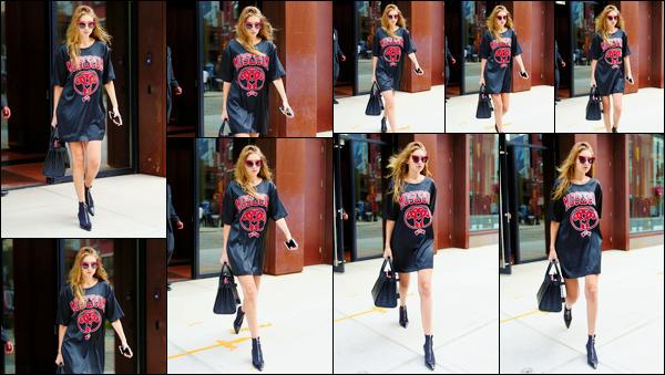 - ''•-06/09/16-' : Gigi Hadid a été photographiée lorsqu'elle venait de quitter son appartement dans Manhattan. C'est dans une tenue assez décontractée, plus que simple, que nous retrouvons Gigi H. à qui, cela dit, j'accorde pour le coup un bon top. -