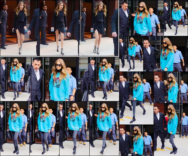 - '-02/11/16-' ◊Gigi Hadid a été photographiée alors qu'elle venait de quitter son appartement dans Manhattan. Plus tard, et dans une toute autre tenue, Gigi a de nouveau été aperçue alors qu'elle quittait son appartement. Je lui accorde deux tops ! -