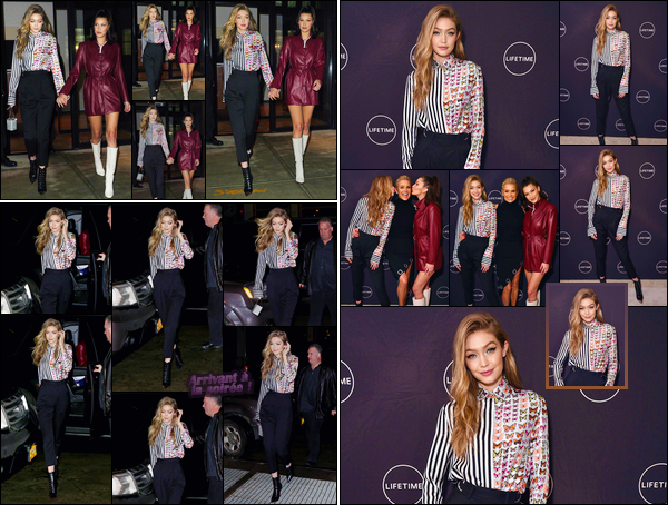 - ''•-11/01/18-' : Gigi Hadid était présente à la soirée :« #MakingAModel Launch Party »qui avait lieu à New-York. C'est pour l'anniversaire de leur mère et pour le lancement de l'émission que nos deux soeurs ont été vues quittant l'appartement de Gigi. -