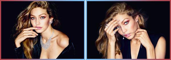 •Découvrez deux nouveaux clichés de notre Gigi Hadidpour la marque« Messika Jewelry »!