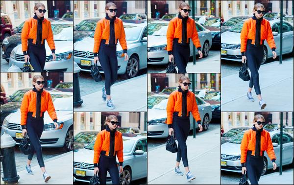 - ''•-08/05/16-' : Gigi Hadid a été photographiée alors qu'elle venait d'arriver à son appartement à Manhattan. C'est dans une tenue assez décontractée que nous retrouvons notre mannequin en cette journée. Je ne suis pas très fan de son look, bof. -