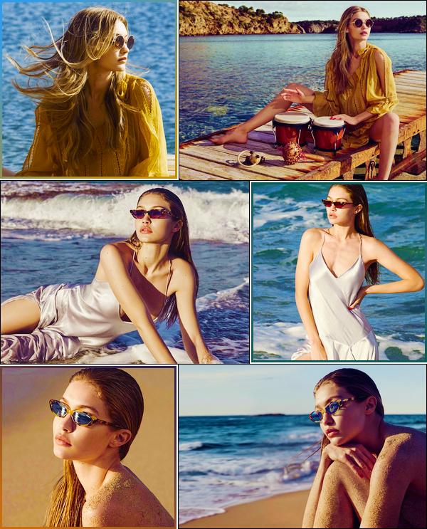 '-PHOTOSHOOT •-' NotreGigi Hadidpour la nouvelle collection '18 de«VOGUE Eyewear»!