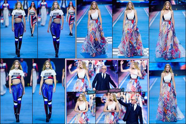 - ''•-25/02/18-' ─ Gigi Hadidparticipait au défilé de la marque dont elle est l'égérie :« Tommy Hilfiger » dans Milan. C'est plus exactement pour le défilé « TOMMYxGIGI » que nous retrouvons notre mannequin. Ses tenues étaient superbes, énormes top ! -