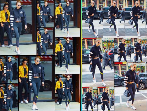 - ''•-09/03/18-' ─ Gigi Hadida été photographiée alors qu'elle venait de quitter son appartement situé àManhattan. Peu de temps après, notre mannequin a été aperçue alors qu'elle se trouvait être dans les célèbres rues de New-York. J'accorde un bof ! -