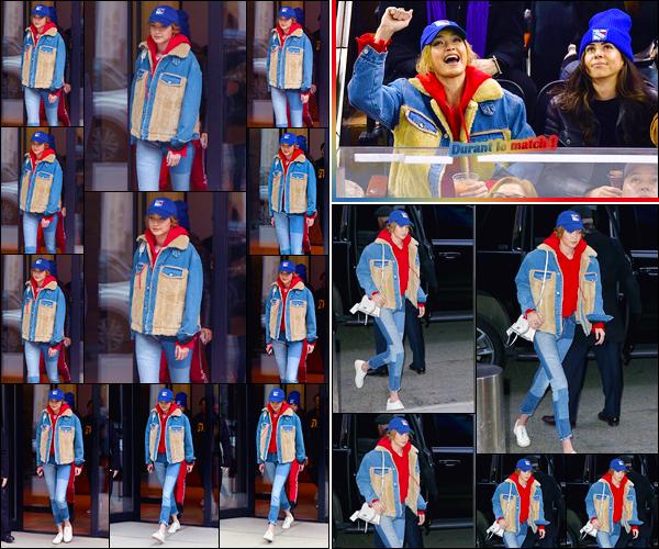 - ''•-12/03/18-' ─ Gigi Hadida été aperçue lorsqu'elle venait juste de quitter son appartement situé dansManhattan. Peu de temps après, Gigi a été vue arrivant au « Madison Square Garden » pour assister au match de Hockey des Ranger's. Un gros top ! -