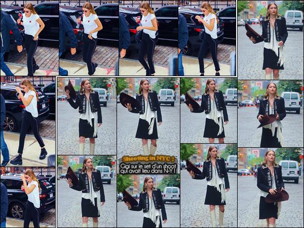 - -• 31/05/18-': Gigi Hadid a été aperçue lorsqu'elle se rendait à son appartement se trouvant dans Manhattan. C'est à nouveau après avoir été sur le set d'un photoshoot que nous retrouvons Gigi qui rejoignait son appartement, je donne un petit bof. -