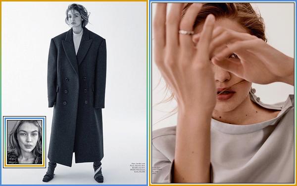 '-PHOTOSHOOT •-' De nouveaux clichés deGigi Hadidpour le magazine: «VOGUE Australia».
