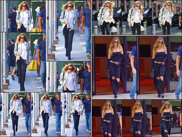 - Gigi Hadid a été aperçue quittant les bureaux de :« Marc Jacobs », se trouvant dans New-York. • '-20/07/18-' Plus tard, notre mannequin à été vue rentrant à son appartement, puis le quittant à nouveau dans une tenue différente. Deux beaux top ! -